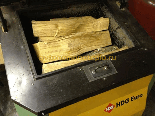 Шахтный котел на дровах
