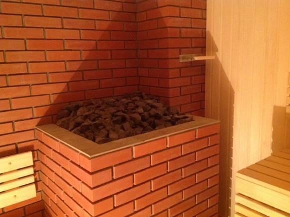 Как лучше обложить железную печь в бане
