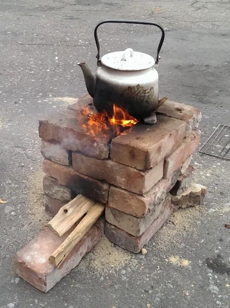 Экономная печь из кирпича