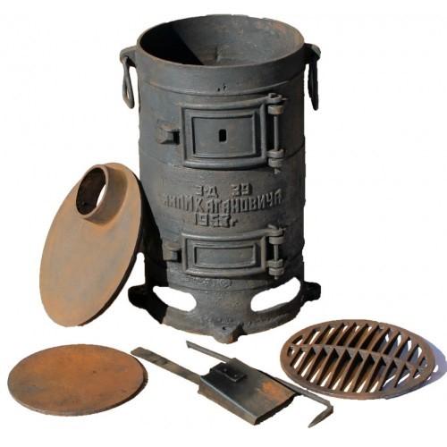 Чугунная армейская печь буржуйка - ПОВ 57