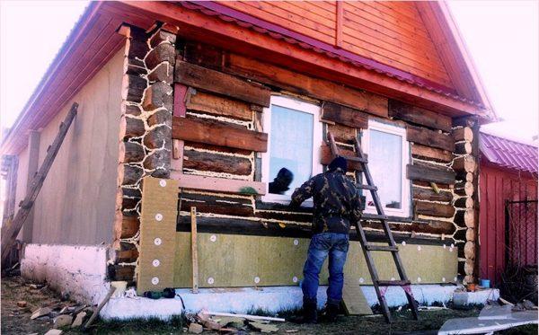 Утепление деревянного дома снаружи минватой своими руками