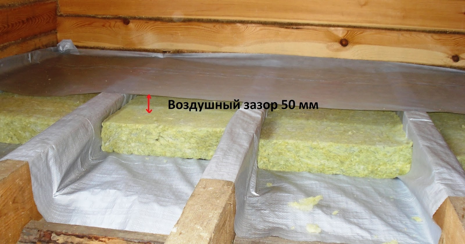 Утепляем потолок в деревянном доме своими руками