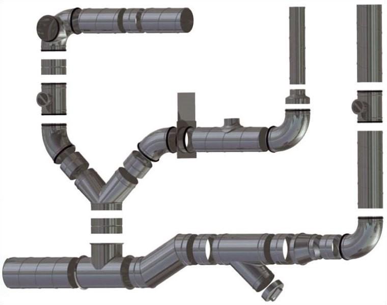 Монтаж вытяжной трубы в частном доме