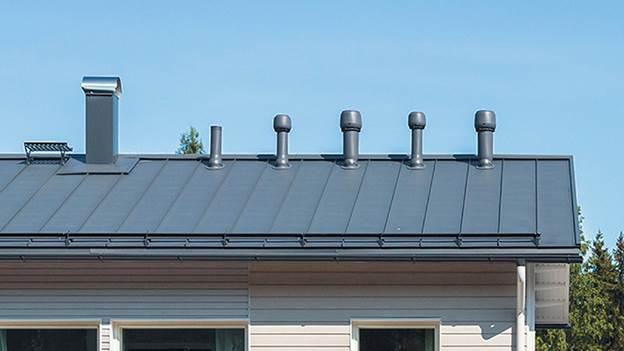 Оголовок вентиляционной трубы на крыше -