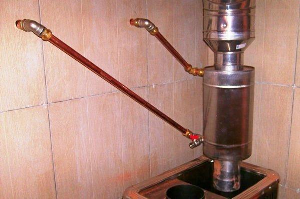 Водяной теплообменник на дымоход